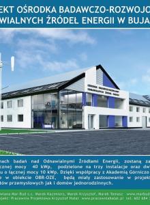 Wizualizacja Ośrodka Badawczo-Rozwojowego Odnawialnych Źródeł Energii w Bujakowie